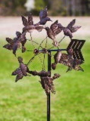 Gifted Living Floating Hummingbirds Kinetic Garden Art , Antique Bronze by Gifted Living