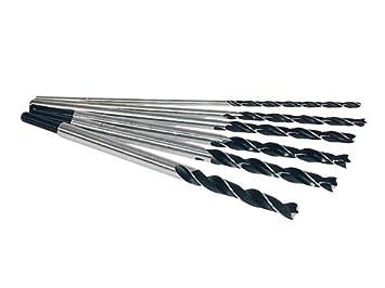 Unterschiedlich 6 Holzbohrer, Balkenbohrer 300 mm lang 6 8 10 12 13 14 mm: Amazon  VO95