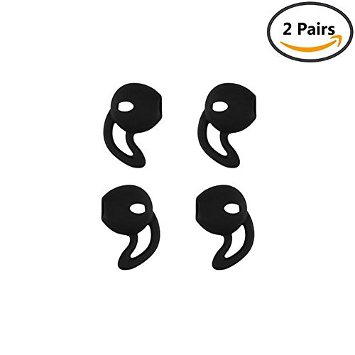 E-bose Airpods Earbuds Earphones Cover Earhooks for iPhone X / iPhone8 / 8 Plus / iPhone7 / 7 Plus - 2 Pairs (Black)