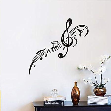 ziweipp Clave de Sol Nota Musical Pegatinas de Pared para ...