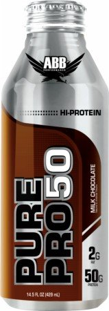 ABB Pure Pro 50 Protein Shake, 50 Gram, Milk Chocolate, 14.5 oz (429 ml)