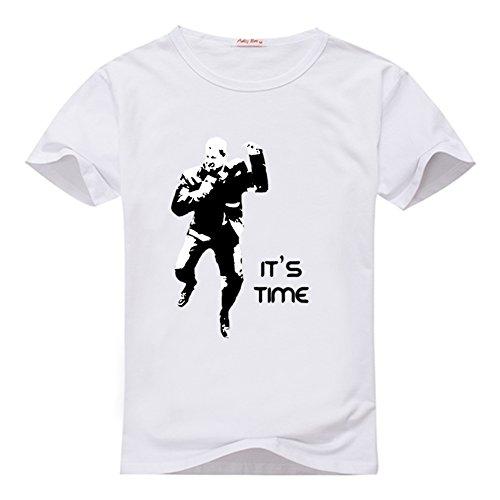Buffer Bruce - Hernandey Men's Bruce Buffer It'S Time MMA Cotton Tee XXXL White