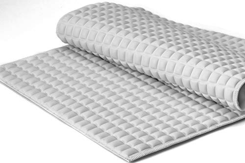 """BOWERBIRD Premium Air Cushion Bathtub Mat with 800+ Air-Filled Cells, Provide Unprecedented Cushioned and Soft Comfort, Reduce Fatigue on Your Feet (Natural Rubber, Gray, 27""""×15"""")"""