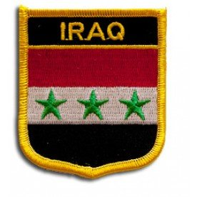 Iraq Flag Patch/International Iron On Badge by Backwoods Barnaby (Iraqi Crest, 2.75