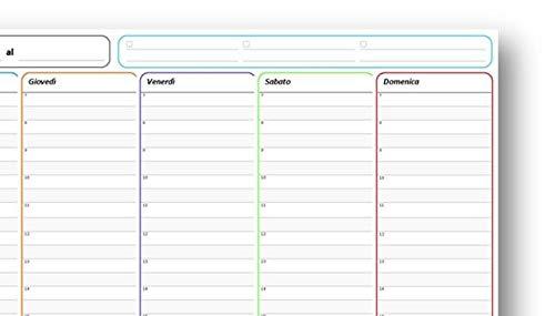 29,7x42 cm con planner settimanale e 54 fogli a strappo Erik Planning da Tavolo Snoopy A3 perfetto come agenda appuntamenti