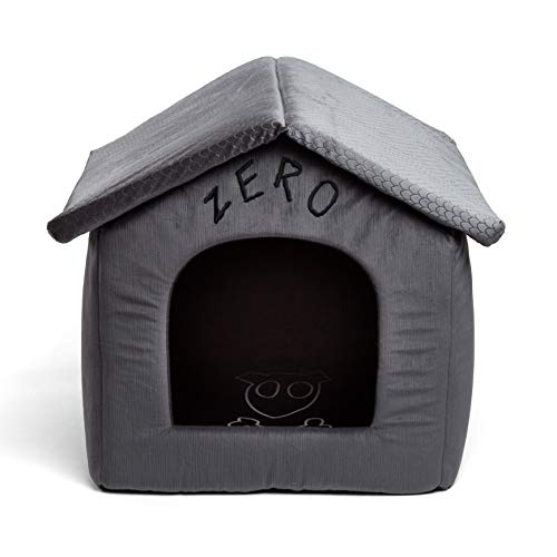 Disney Nightmare Before Christmas Zero Portable Pet House Dog Bed/Cat Bed with Detachable Top, Embroidery, Machine Washable, Dirt/Water Resistant Bottom (Available in Two Sizes)