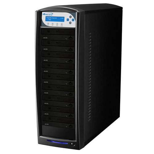 SharkBlu 9 Target BDXL / Blu-Ray / DVD / CD Stand-Alone Disc Duplicator + USB 3.0 + 500GB HDD by Vinpower Digital