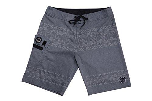 ISLAND DAZE BBO - Mens Boardshort Bottle Opener Fishing Shorts Plier Pocket UV Blocking Swim -