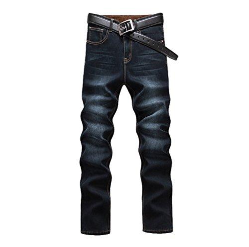 Invierno Cálido Vaqueros más de Exquisito Largo Hombre Skinny Cintura Vellosidades Gris1 Casual Pantalones YiJee Alta qzUp8U