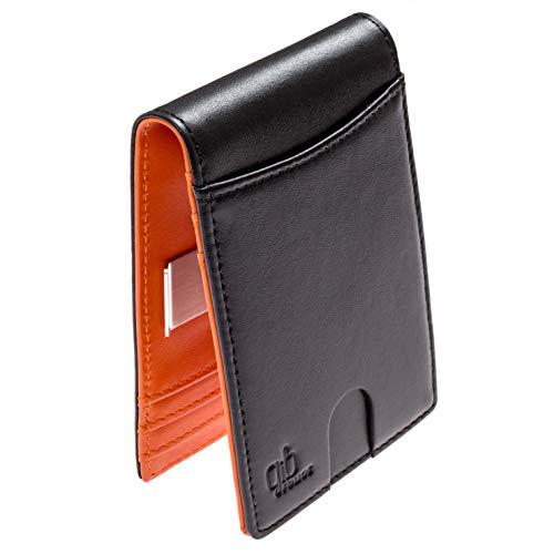 (Genuine Leather Rfid Money Wallet With Clip For Men Women Slim Travel Bifold)