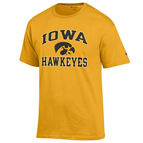 - Champion NCAA Men's Shirt Short Sleeve Officially Licensed Team Color Tee, Iowa Hawkeyes, X-Large