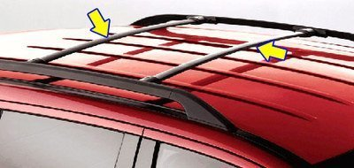 Rails Roof Ford (Oem Factory Stock Genuine 2011 2012 2013 2014 2015 Ford Explorer Middle Roof Cross Bars Luggage Rack Kit)