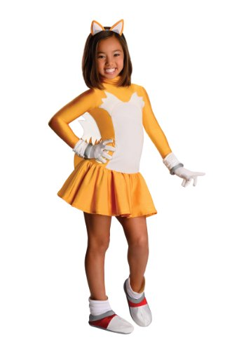 [Sonic The Hedgehog Female Tails Costume, Small] (Sonic Hedgehog Costume Rental)