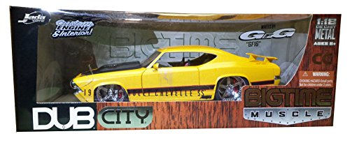 1969 Chevy Chevelle SS DUB 1:18 Diecast Model Car YELLOW