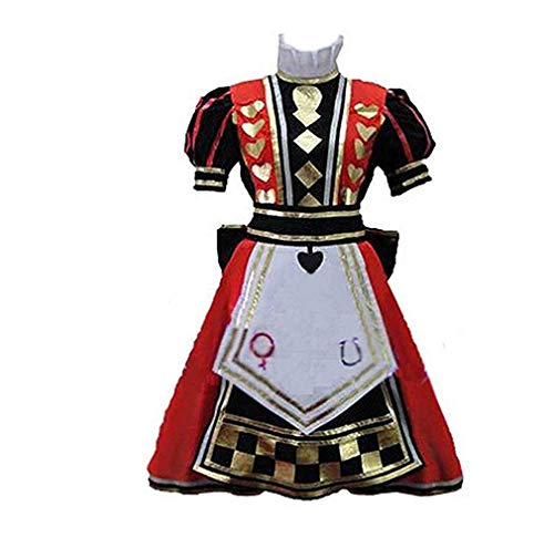 Alice Madness Returns Halloween Costume (TISEA Womens Halloween Royal Suit Alice Red Dress Cosplay Costume)