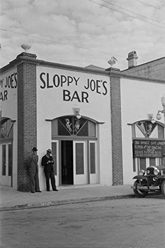 (199599 Sloppy Joe's Bar, Key West, Florida 1938 Decor Wall 36x24 Poster Print)