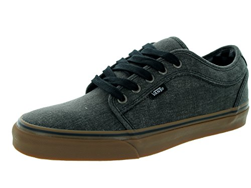 Vans Men's Chukka Low (Washed) Black Skate Shoe 8.5 Men US