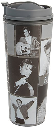 Vandor 47022 Elvis Collage Acrylic Insulated Travel Tumbler Cup, 16 Ounce