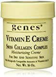 Genes Vitamin E Creme Swiss Collagen Complex Moisturizing Creme for...