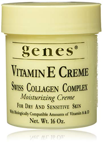 Genes Vitamin E Creme Swiss Collagen Complex Moisturizing Creme for Dry and Sensitive Skin 16 oz