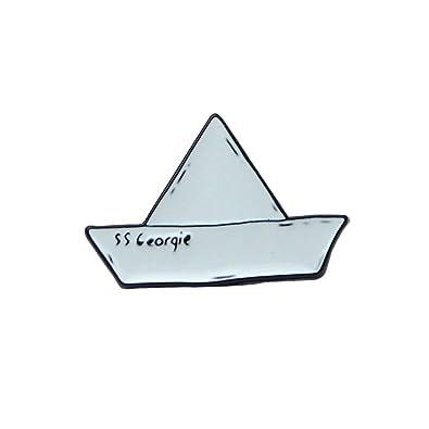 Amazon.com: ink2055 Pequeño papel barco esmalte aleación ...