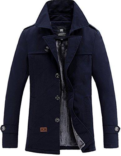 Fur Single Breasted Coat - 6