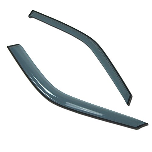 Out-Channel Window Visor Deflector Rain Guard Light Grey 2-pc Set ()