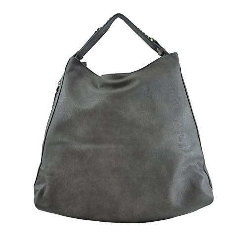 Tote Stampa Bag Pelle Lookat Grigio Donna Pu Dollaro 45x37x16 Cm In EUnAAYXqw