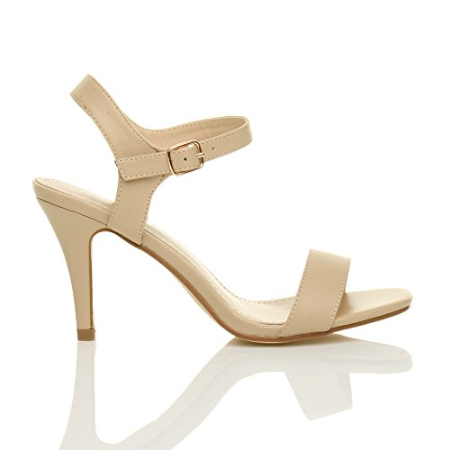 Matte Size There Nude Women High Sandals Ajvani Shoes Barely Heel ZBznxOW