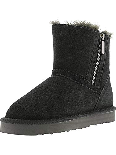 Co Weather Ankle Closed amp; Style Grey Ciley Womens Cold Leather Toe Boots 5xz16qa