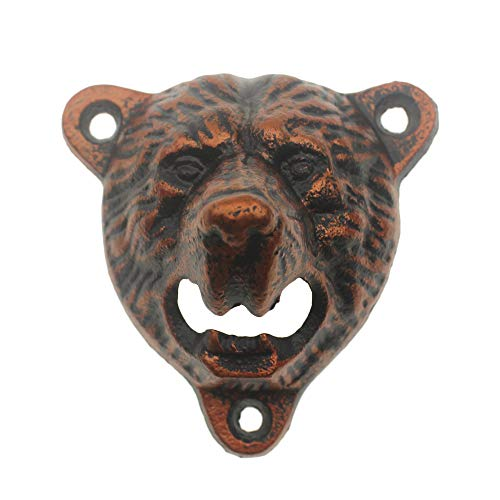 Grizzly Bottle Opener Catcher antique