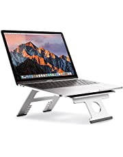 Nllano Laptop Stand, Multi-functional Folding Portable Aluminum Laptop Computer Stand Riser, Compatible with Laptop (10 inch~15.6 inch) MacBook, HP, Dell, Lenovo, Samsung, Acer