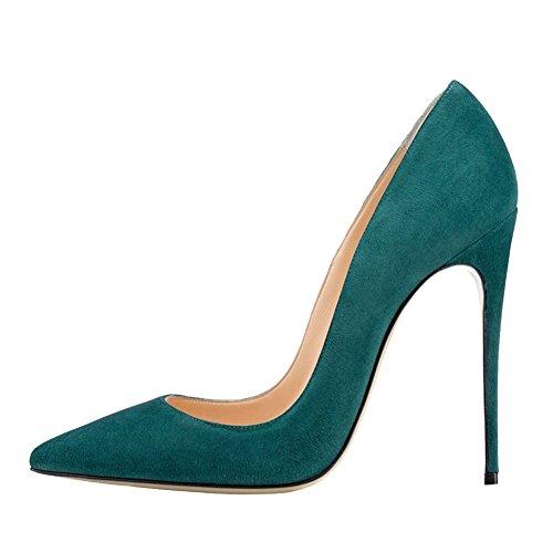 MERUMOTE - Zapatos de tacón fino Mujer verde oscuro