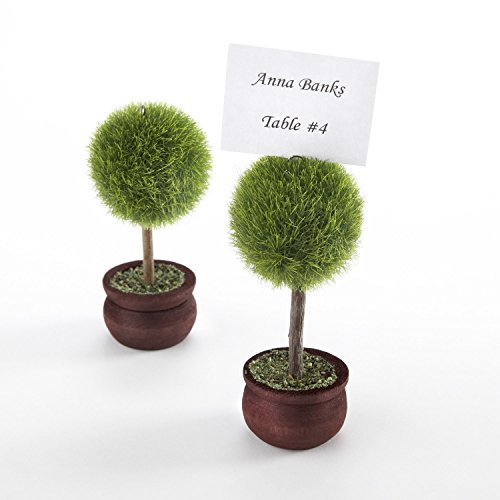 100pcs Topiary Potted Place Card Holder Table Card Holder photo (Topiary Card)