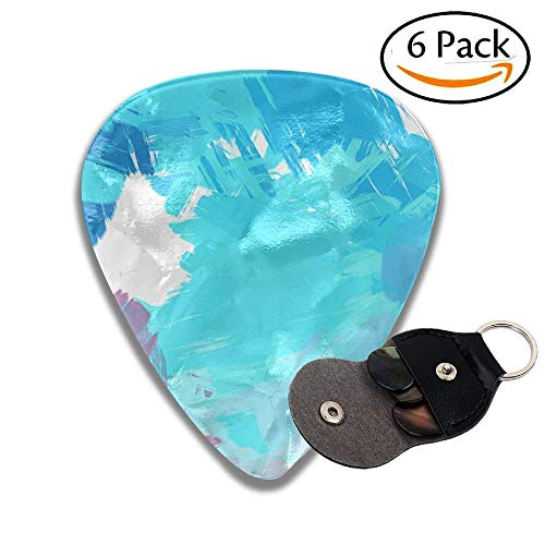 CHJOO Guitar Picks Bed Painted Abstract Background B Stroked Painting Stylish Celluloid Guitar Picks Plectrums For Guitar Bass .71mm 6 Pack