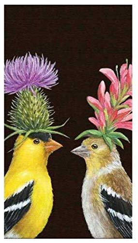 Vicki Sawyer Dinner Napkins Disposable Paper Guest Towels Goldfinch Bird Large Pack of 30
