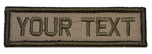 Customizable Text 1x3 Patch w/Hook Fastener Morale Patch - C