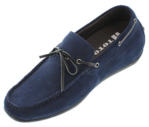 Nubuck Increasing Blue H32606 Shoes inches 4 2 Taller TOTO on Height Navy Elevator Slip qYUzwwP