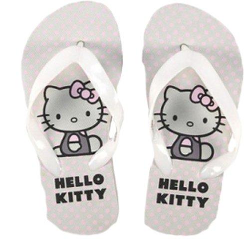 Hello Kitty Flip Flops in Weiss, Rosa-Weiss, Rosa und Pink Gr. 27, 29, 31, 33 Weiß