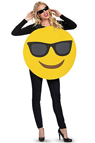 Emoji Costume - One Size - Chest Size - Sunglasses Disguise
