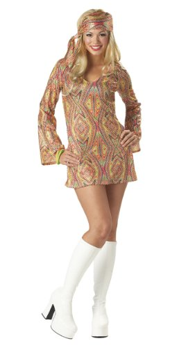 Adult Disco Dolly - Disco Dolly Adult Costume - Medium