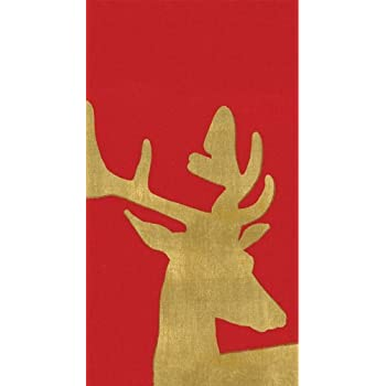 Hand Towels Bathroom Paper Guest Towels Alpine Stag Red 12 Count