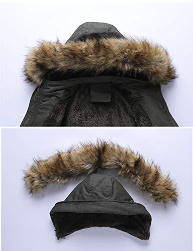 Fourrure Jacket T5 Hiver Women Manteau Hooded Rembourre Chaud Capuche pais Capuche Femme YYZYY Coat Parka Winter Long Veste Warm avec rouge wUq1HffYx