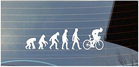 Pegatina con diseño de evolución: del hombre a la bicicleta, para ...