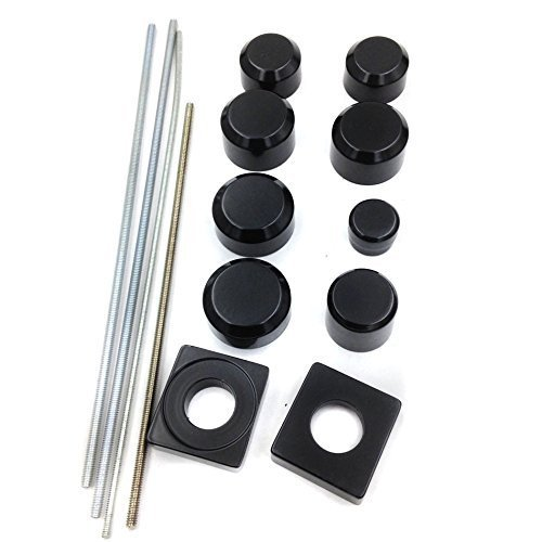 Motorcycle Black Fork Axle Caps Covers For 1999-2011 Suzuki Gsx-R 1300 R Hayabusa Gsxr1300 by SMT-MOTO