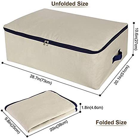 42*27*50CM punto no tejido /Bolsa de almacenaje no tejida funda de almacenaje plegable para Literie edred/ón manta almohada ropa fablcrew/