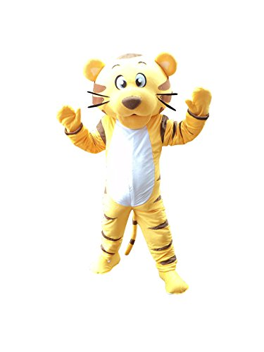 Tiger Adult Mascot Costume Cosplay Fancy Dress Outfit Suit ()