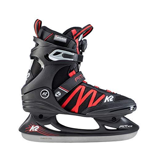 K2 Skate F.I.T. Ice Boa Ice Skate, 12, Black