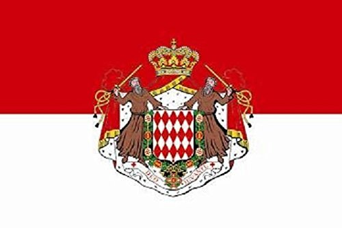 U24 Drapeau du Monaco avec armoiries haute qualité pour bateau drapeau 150 x 250 cm