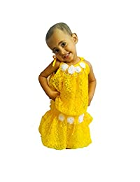 Baby Skirt Set Yellow Net Kids Outfit Christmas Dress Age 9 Month